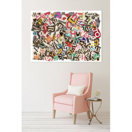 PASTED PAPERS canvas print