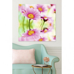 Tableau fleurs roses et nature