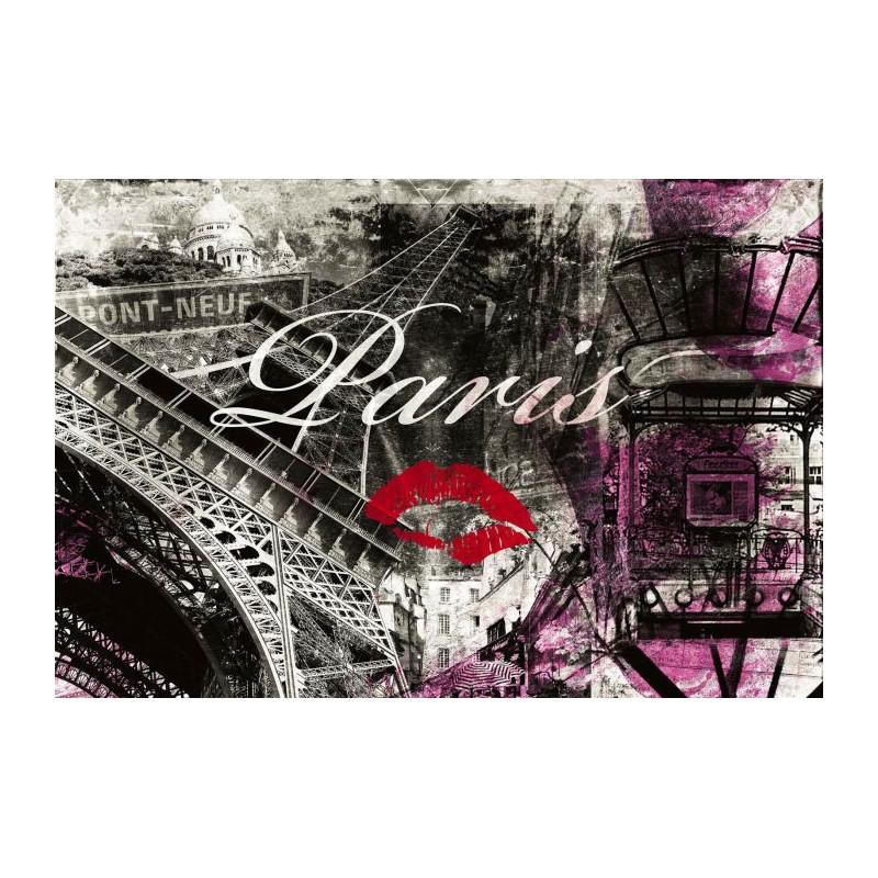 Tableau design paris en format g ant vue sur la capitale for Decoration chambre theme paris