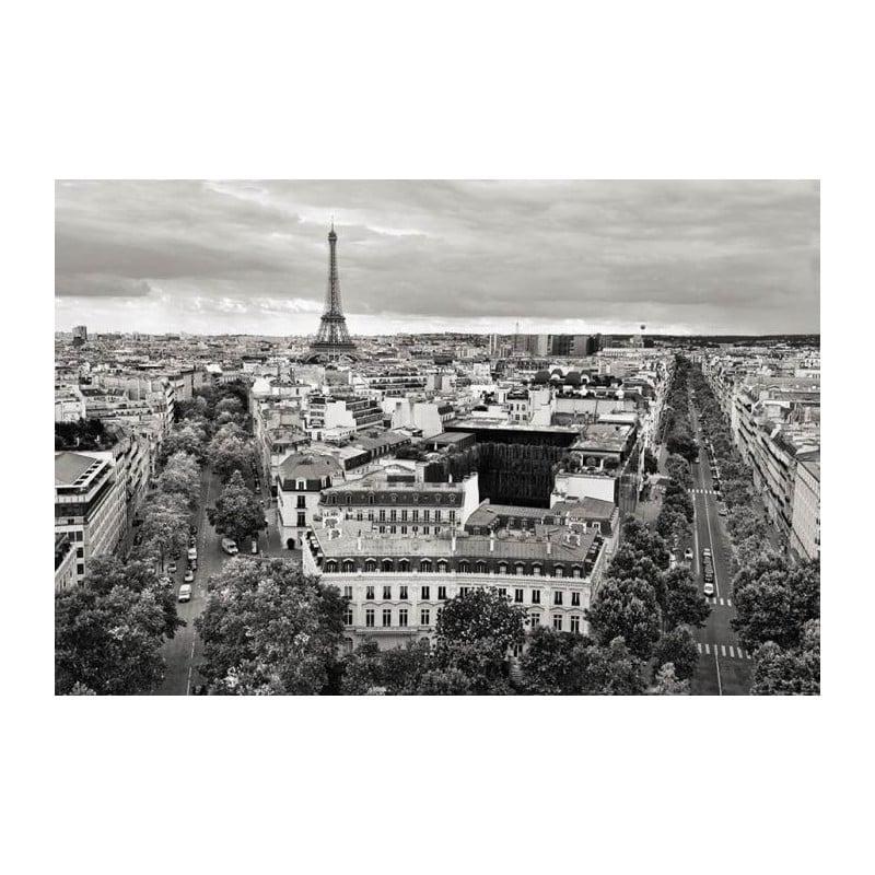 Paris En Noir Et Blanc Poster Panoramique Avec La C 233 L 232 Bre