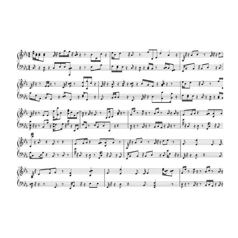 Idée Déco Chambre Ado : Partition de musique – Papier peint panoramique notes de musique