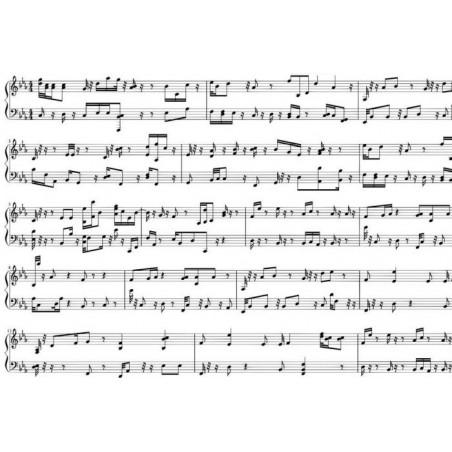 Póster PARTICIÓN MUSICAL
