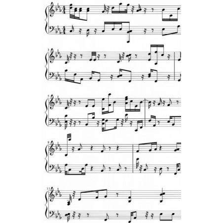 Tapiz pared PARTICIÓN MUSICAL