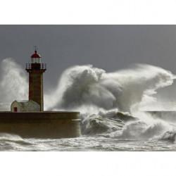 Tableau tempête en mer