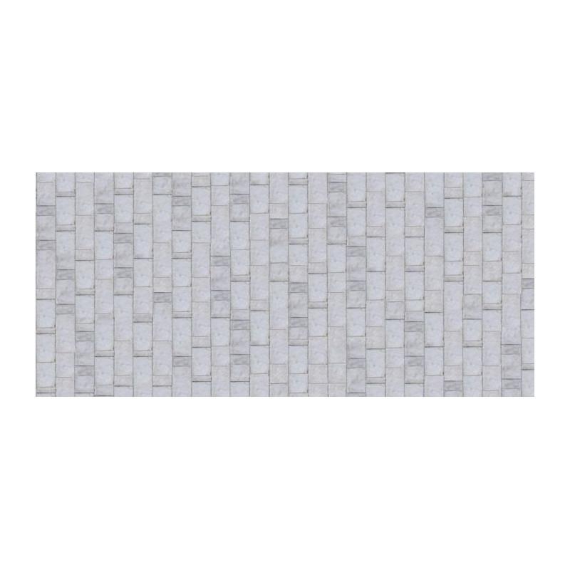 papier peint trompe l 39 oeil mur de pierres beiges. Black Bedroom Furniture Sets. Home Design Ideas