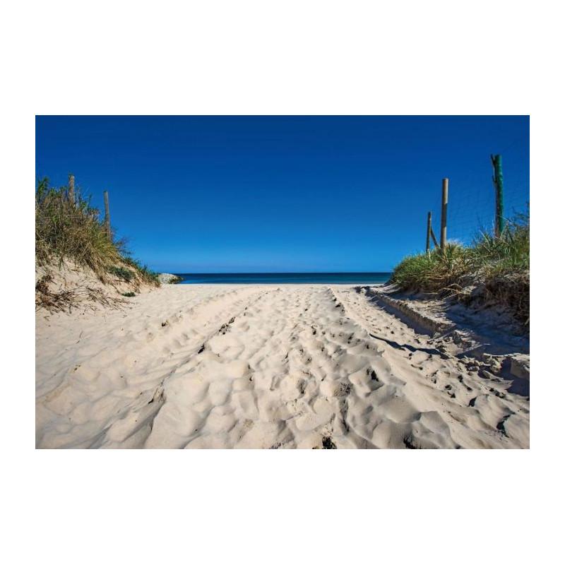 Papier peint plage de sable fin l 39 oc an atlantique for Papier peint bord de mer
