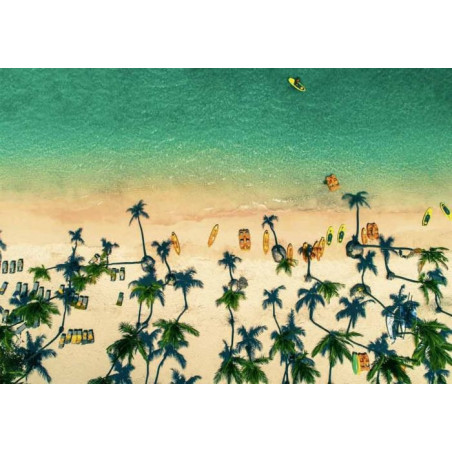 GREEN BEACH FROM THE SKY canvas print