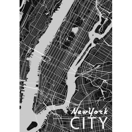 Cuadro en lienzo MAPA DE NUEVA YORK