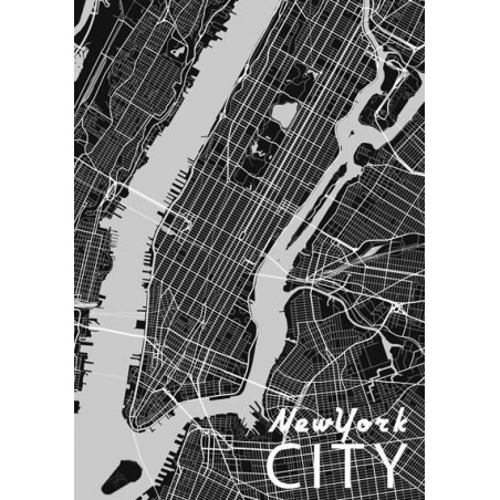 MAP OF NEW YORK canvas print