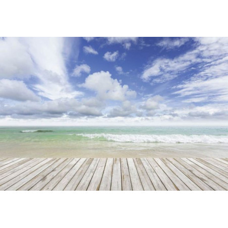 WOODEN PLANKS AND SEA Wallpaper
