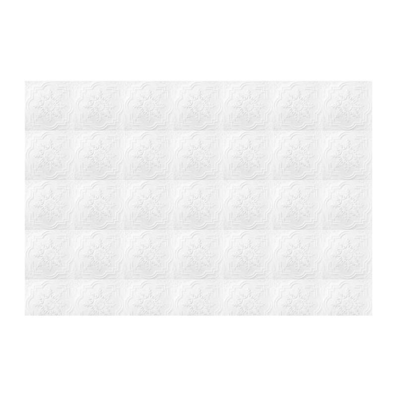 Poster murale pur blanc effet froiss expansion for Papier peint blanc casse