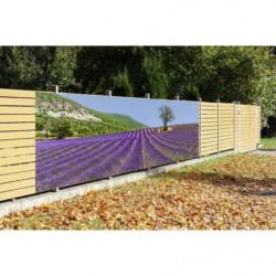 Brise vue paysage de Provence champ de lavande en perspective