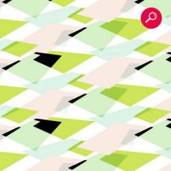 Papier peint à motif vert et rose