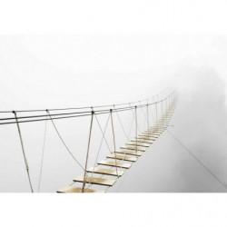 Tableau pont dans la brume