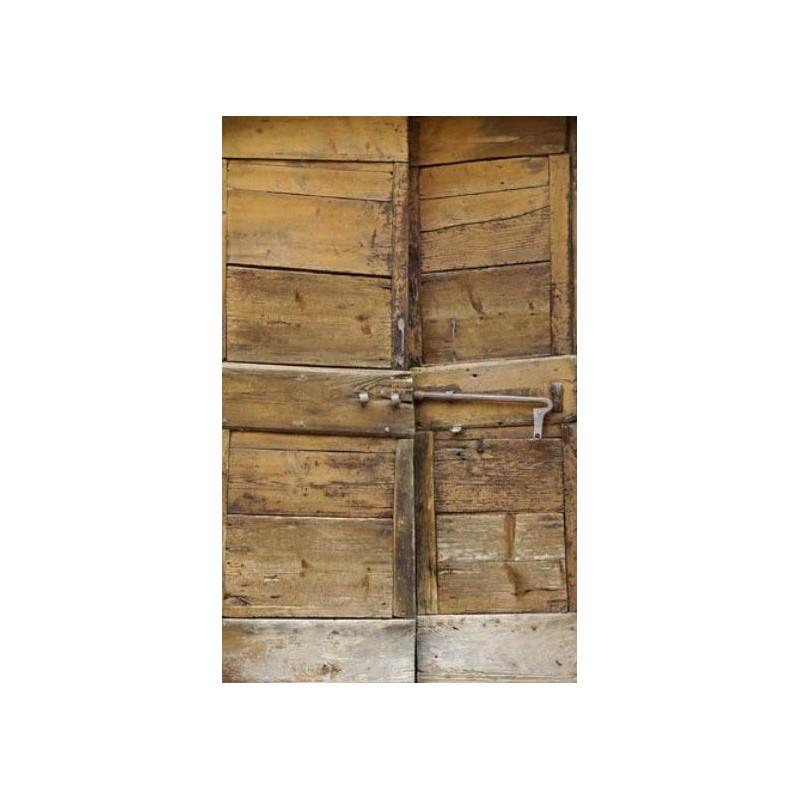 Poster Trompeloeil Porte En Bois Ancien Photo Vieillie - Trompe oeil porte