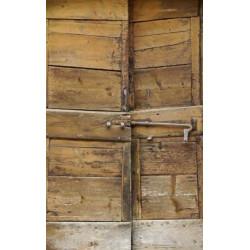 Papier peint bois trompe l'oeil porte ancienne