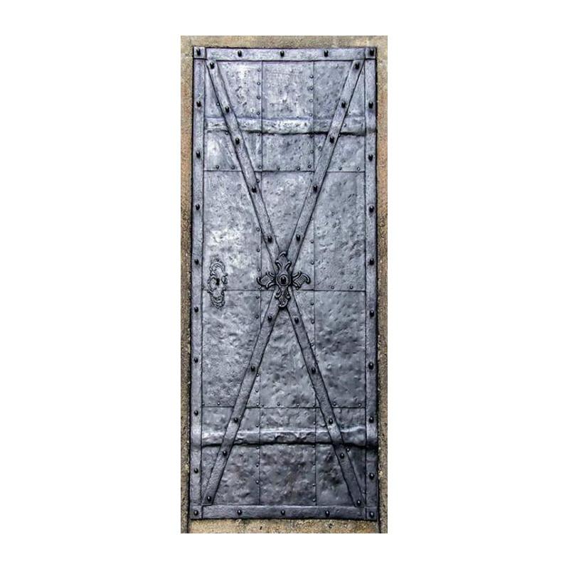 Poster Porte Trompe Loeil Porte En Fer Pour Délimiter Un Espace Privé - Poster porte