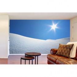 Papier peint paysage neige