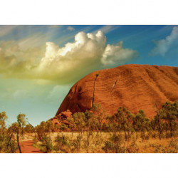 Pintura de paisaje Ayers Rock en Australia