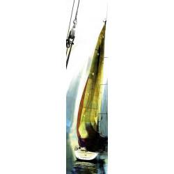 Lé de tapisserie voilier in yellow watercolour