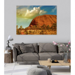 Landscape painting Ayers Rock in Australia