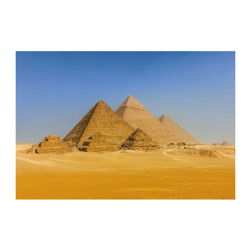 poster g ant pyramides en egypte d co paysage merveille du monde. Black Bedroom Furniture Sets. Home Design Ideas