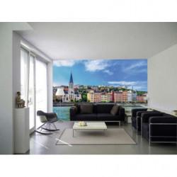 Papier peint panoramique Lyon quais de Saône