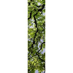 Lé de tapisserie nature feuilles d'arbre