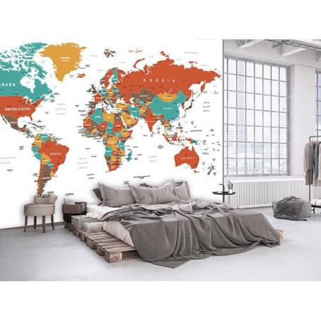 Papier Peint RED MAP