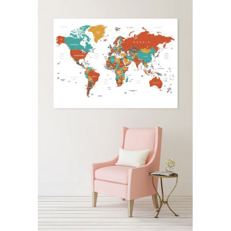 RED MAP Canvas print