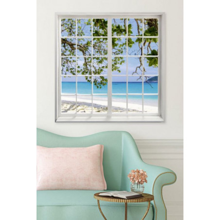 LOOKING AT THE BEACH  Canvas print