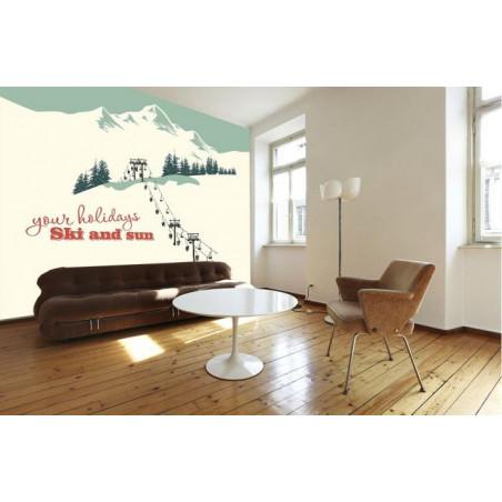 SKI LIFTS Wallpaper