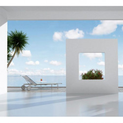 Papier peint trompe l'oeil terrasse de luxe