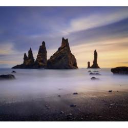 Papier peint paysage brumeux en Islande
