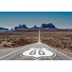 Poster route 66 aux Etats-Unis d'Amérique