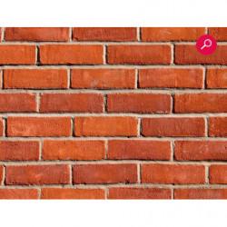 Papier peint fresque géant mur de briques rouges