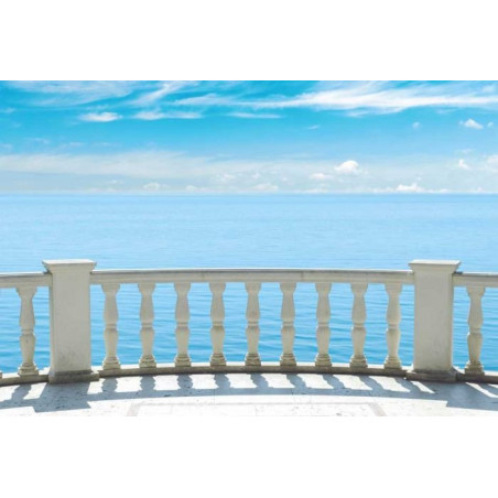 BALCONY ON THE SEA Poster