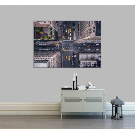 RUE DE NY FROM THE AIR canvas print