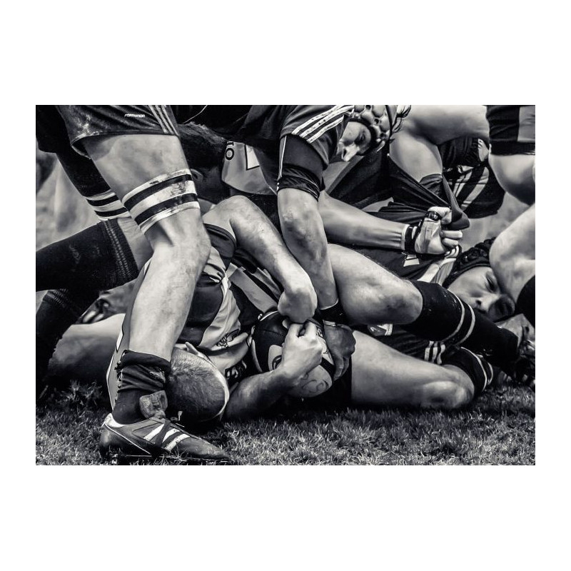 Tableau grand format d coration rugby for Toile murale grand format
