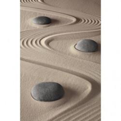 Papier peint zen terre et galets