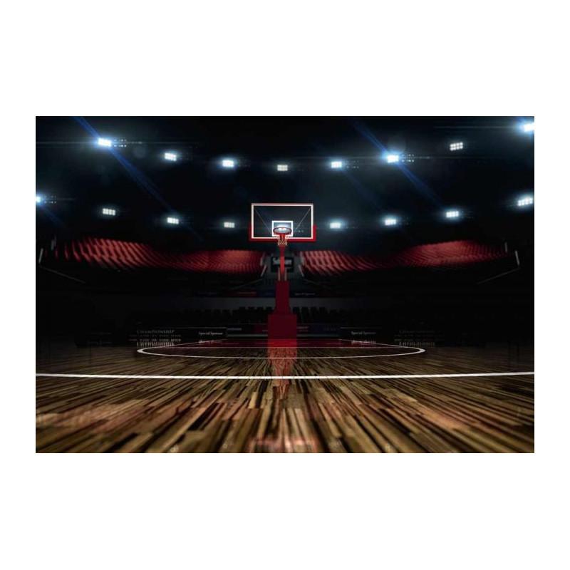 Salle de basket en trompe l'oeil
