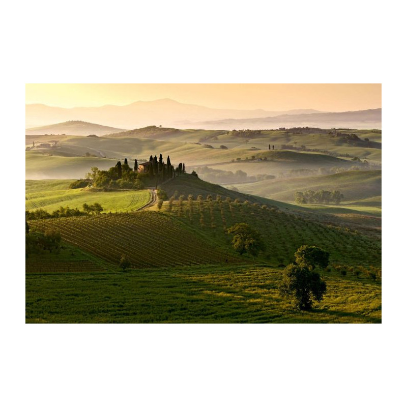 awesome paysage toscane italie san quirico poster gant with poster mural zen. Black Bedroom Furniture Sets. Home Design Ideas