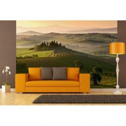 Papier peint panoramique paysage de campagne