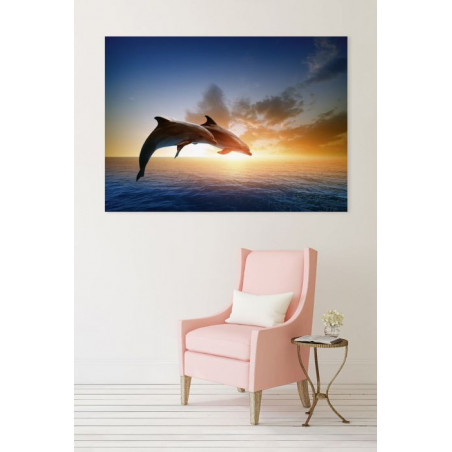 DOLPHINS JUMP Canvas print