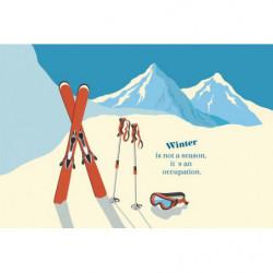 Papier peint ski de montagne