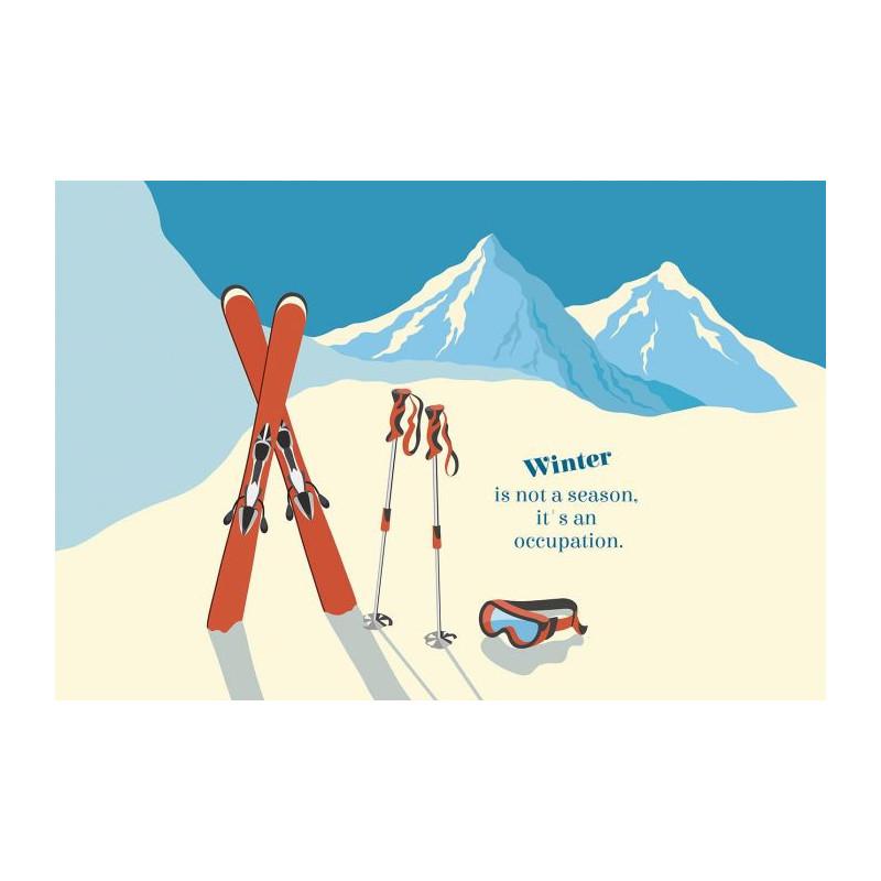 Ski un tableau haute montagne en toile par scenolia for Tableau deco design toile