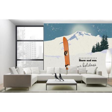 SNOW AND SUN wallpaper