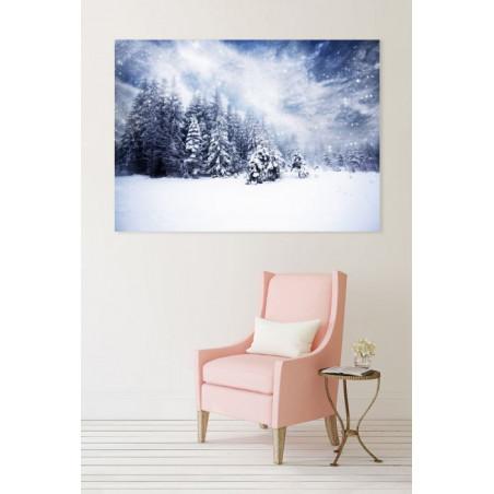 UNDER THE SNOW Canvas print