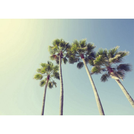 UNDER THE PALM TREES Canvas print