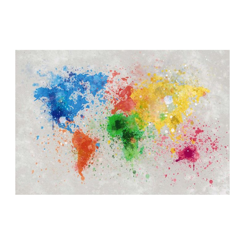 Tableau grand format carte du monde splash the world - Carte du monde tableau ...